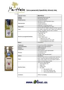 Nutriční hodnoty Finca La Torre